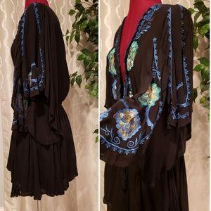 Free People Dresses - NWT Free People Top Black Size S Flowy Sleeves